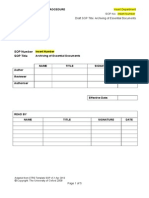SOP Template Archiving of Essential Documents v5.1