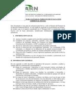 INSTRUCTIVO PARA LLENAR EL FORMATO DE EVALUACION  AMBIENTAL INICIAL MARN - Guatemala