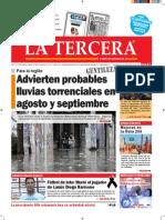 Diario La Tercera 29.07.2015
