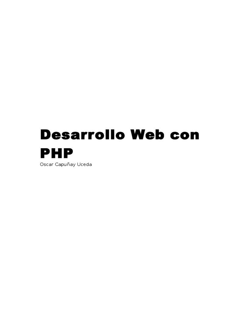 Desarrollo Web Con PHP - Oscar Capuñay