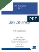 Eco Lecture 03 CapitalCost