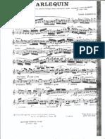 Louis Cahuzac - Arlequin - Piece Caracteristique Pour Clarinette Seule