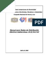 Manual Para Redes de Distribución Eléctrica Subterránea 35 KV