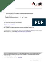 09. Bolduc, 1985 - Recension de Heidegger - Les Problèmes Fondamentaux de La Phénoménologie