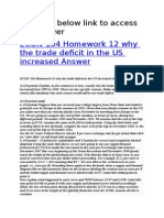 ECON 104 Homework 12 Why the Trade Deficit in the US Increased Answer