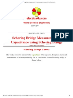 Schering Bridge Measurement of Capacitance Using Schering Bridge _ Electrical4u