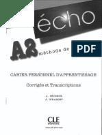 Écho A2 - Cahier_Corrigés et transcriptions.pdf