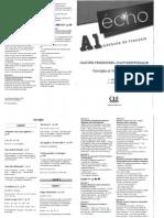 A1 Méthode de Français - Corrigés Et Transcriptions