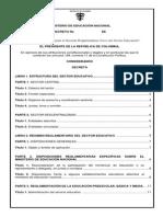 MinEducacion Índice Decreto 1075 de 2015 Colombia