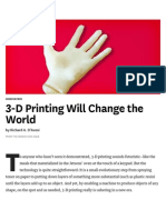 3-D Printing Will Change the World - HBR