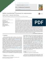 Additive Manufacturing a Framework for Implementation