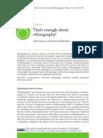 Ingold Sobre Etnografia