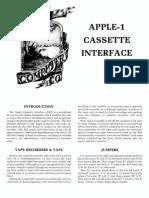Apple-1 Cassette Interface apple computer
