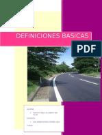 Definiciones Basicas de Caminos