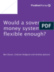 Positive Money - Flexibility in a Sovereign Money System by Dyson, Hodgson, A. Jackson