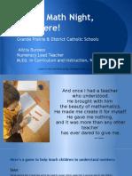 parent math night  - online version final