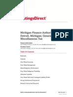 Standard & Poor's Detroit Report, July 29, 2015