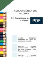 3.1 Educación de Las Virtudes Humanas