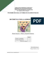 Matematica de La Administracion