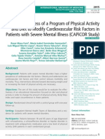 The Effectiveness of a Program of Physical Activity and Diet to Modify Cardiovascular Risk Factors in Patients with Severe Mental Illness (CAPiCOR Study)