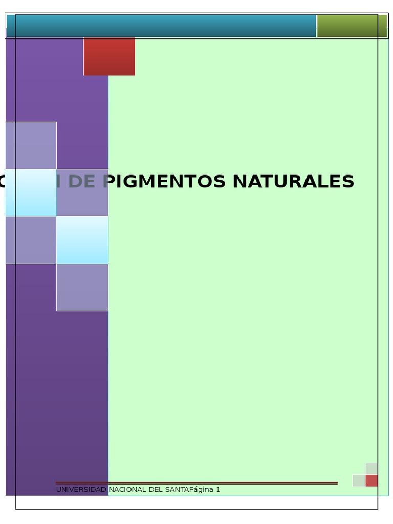 Extraccion de Pigmentos Naturales
