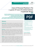 The Importance Of Neuronal Plasticity In The Prognosis Of Cases Of Cerebral Ischemia