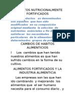 ALIMENTOS NUTRICIONALMENTE FORTIFICADOS