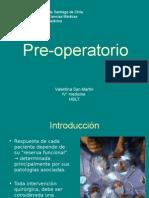 Pre Operatorio quirugico