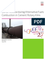Sulfur Release During Alternative Fuels Combustion in Cement Rotary Kiln