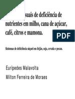 Deficiencias de Nutrientes Em Milho, Cana, Cafe, Citros,Mamona