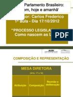 Processo Legislativo e28093 Como Nascem as Leis Prof Carlos Frederico 1c2aa Aula 17-10-2012