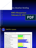 National Weather Service briefing Feb. 22, 2010