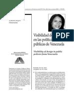 Visibilidad del diseño en las políticas públicas de Venezuela