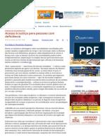 ConJur - Roberto Nogueira_ Acesso à Justiça Para Pessoas Com Deficiência