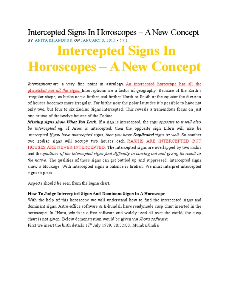 Intercepted signs in horoscopes astrological sign horoscope nvjuhfo Choice Image