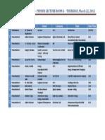Physics Career Talk 220312 - Schedule