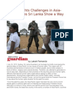 Human Rights Challenges in Asia-Pacific Does Sri Lanka Show a Way Out