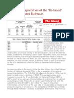 Economic Interpretation of the 'Re-based' National Accounts Estimates