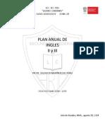 Plan Anual Ingles II y III