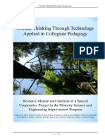 Critical Thinking Through Technology Applied in Collegiate Pedagogy
