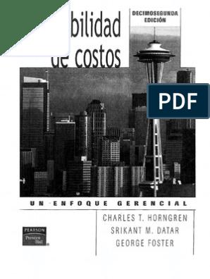 1 Hdf Contabilidad De Costos Un Enfoque Gerencial Cap 15 Pdf