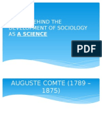 4. People Behind the Devt. of Sociology as a Science