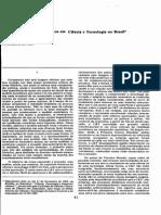 Os principais marcos históricos em Ciência e Tecnologia no Brasil