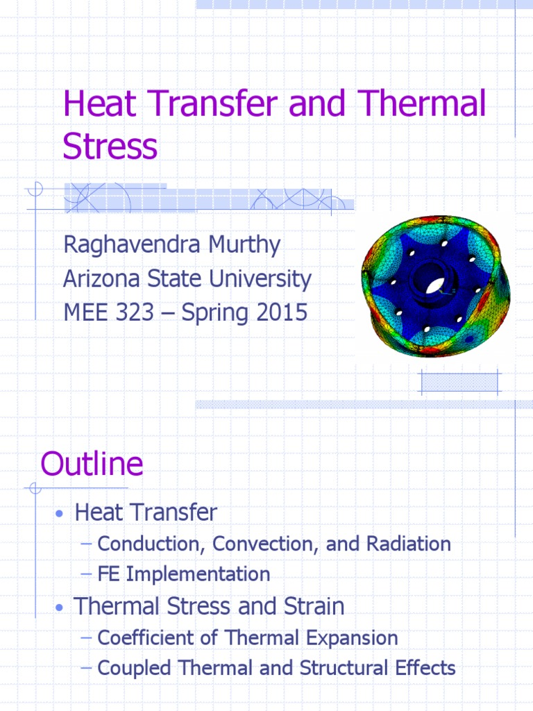 heat transfer and thermal stress   heat transfer   convection