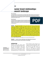 4.1 Consumer Brand Relationships a Research Landscape