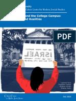 Antisemitism Campus 072715