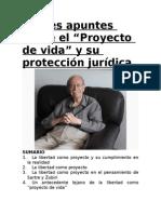 Breves Apuntes Sobre El Proyecto de Vida - Carlos Fernández Sessarego