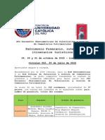 Circular 002 Ponentes y Resúmenes Aceptados XVI Encuentro Iberoamericano de Cementerios Patrimoniales