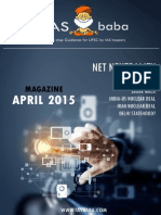 IASbaba UPSC Current Affairs Analysis Magazine April 20151
