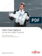Flyer Infrastructure for SAP in Memory Appliance SAP HANA